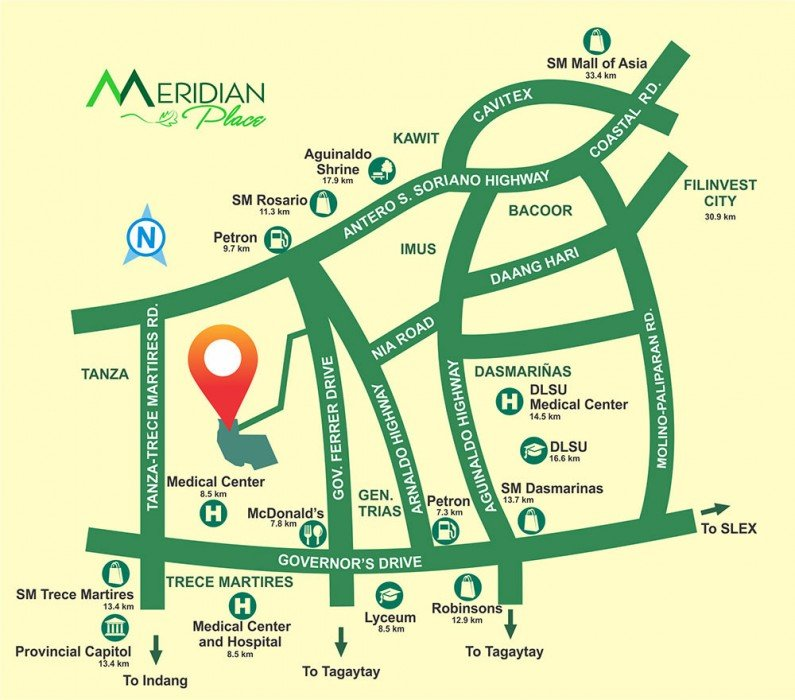 Location Map - Meridian Place - Gen Trias by Filinvest