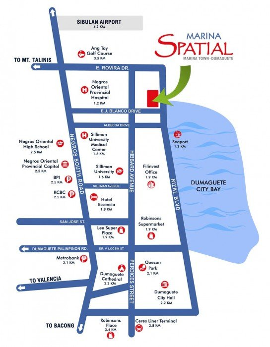 Location Map Marina Spatial Dumaguete by Filinvest