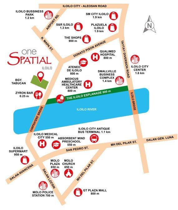 Location Map - One Spatial - Ilo-ilo - Futura Homes by Filinvest