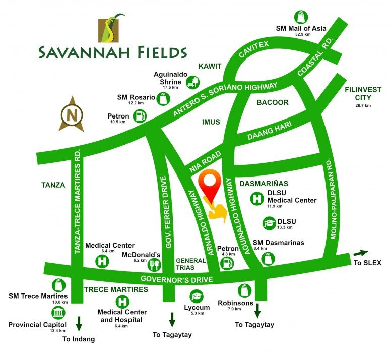 LocationMap-Savannah-Fields-General-Trias-Cavite-Futura-By-Filinvest