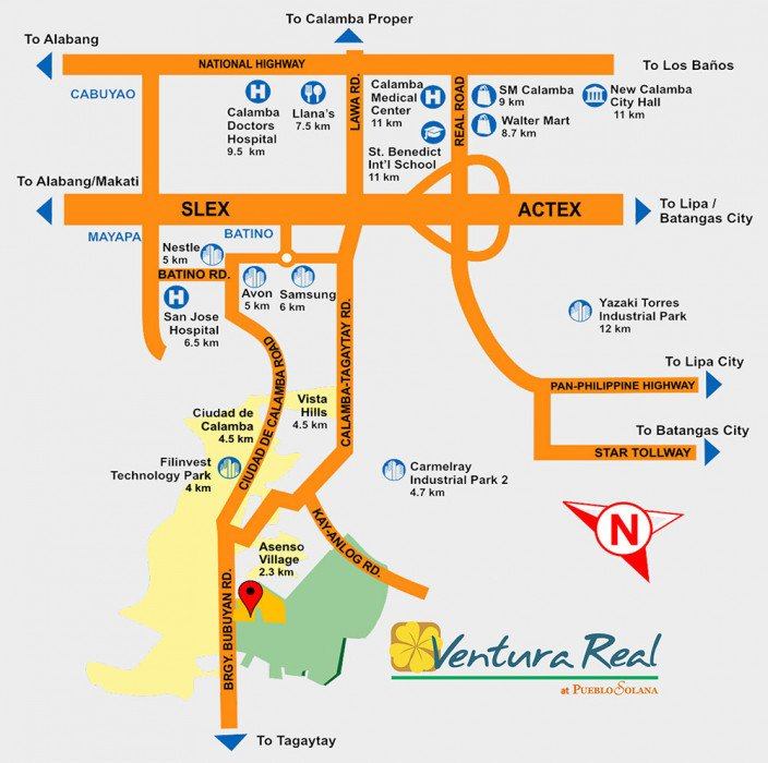 Ventura Real Location Map