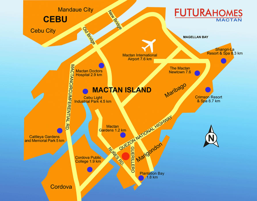 Futura Homes Mactan Location Map