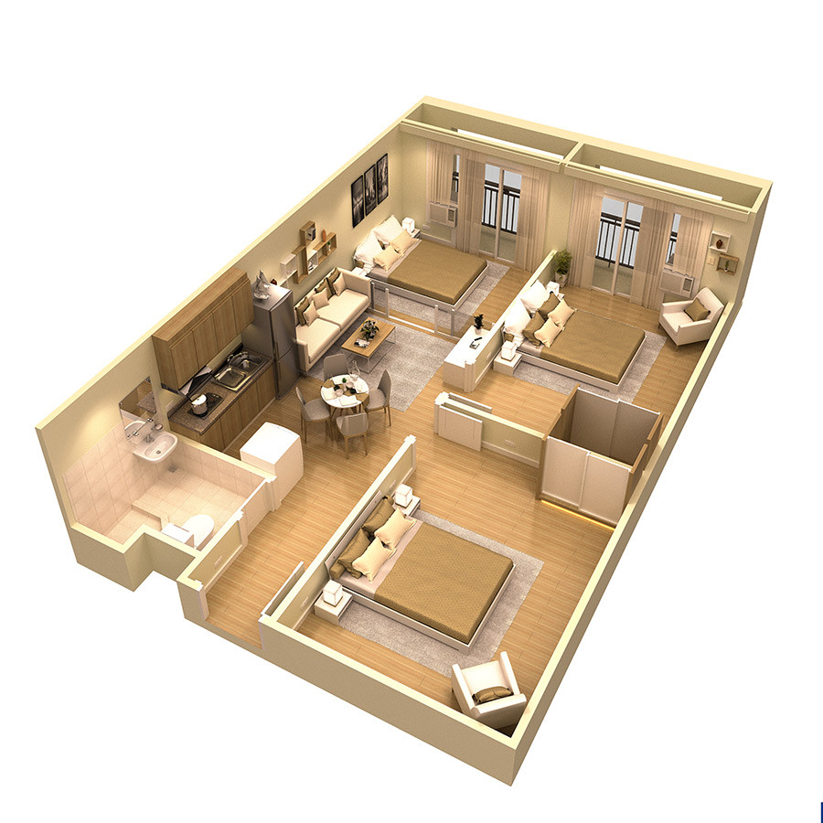 3BedroomUnit-CapriOasisPasig-AspireByFilinvest