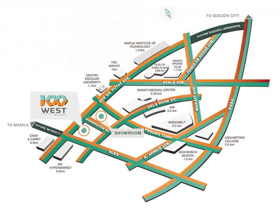 LocationMap-100West-Makati-AspireByFilinvest