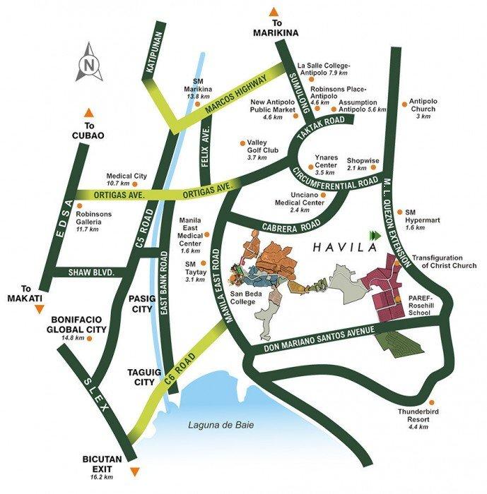 LocationMap-AmarilyoCrestAtHavila-TaytayRizal-AspireByFilinvest