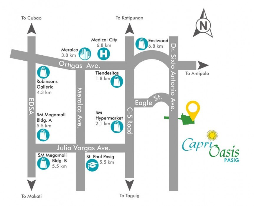 LocationMap-CapriOasisPasig-AspireByFilinvest