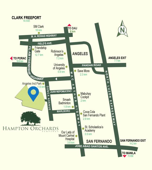 LocationMap-HamptonOrchardsPampanga-AspireByFilinvest