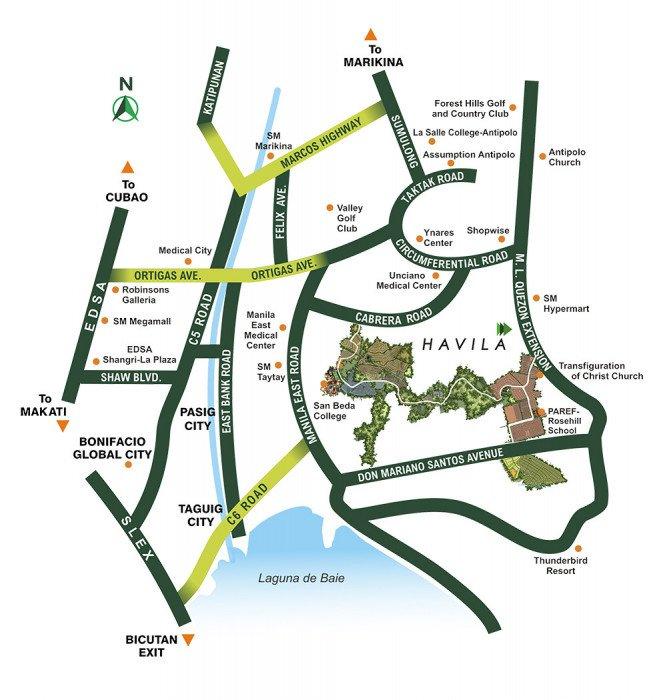 LocationMap-HighlandsPointeAtAvila-AngonoRizal-AspireByFilinvest