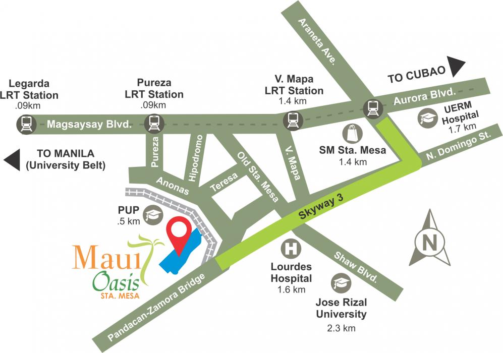 LocationMap-MauiOasisStaMesaManila-AspireByFilinvest