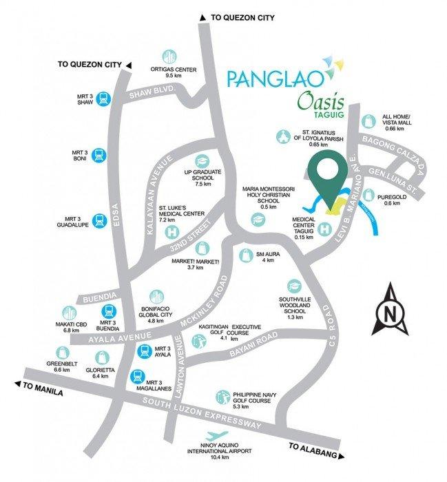 LocationMap-PanglaoOasis-Taguig-AspireByFilinvest