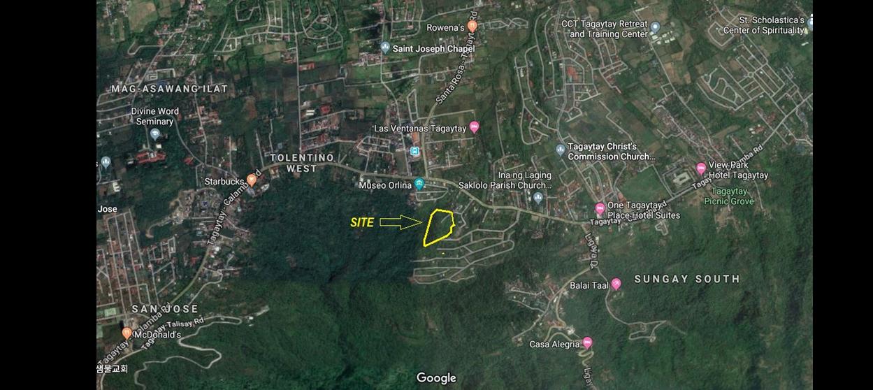Tagaytay Prime Lot Location map