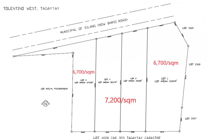 Tagaytay Tolentino West Lot Plan
