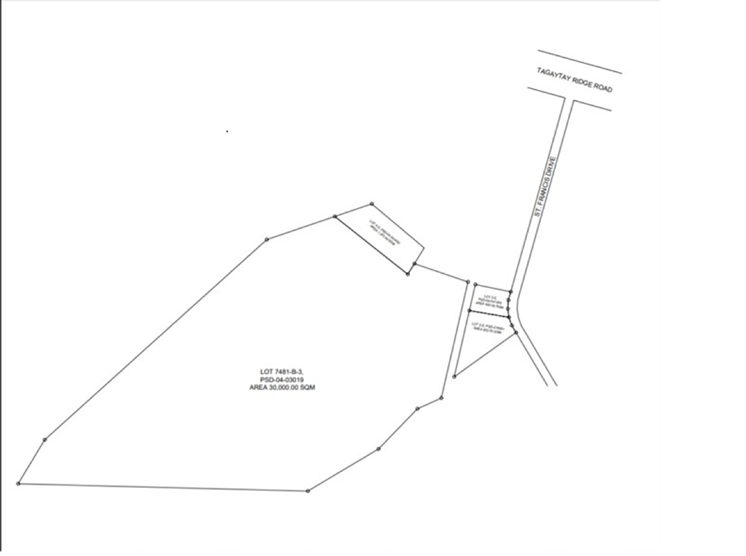 Tagaytay Prime Lot Plan