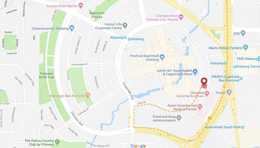 Filinvest Alabang - How to get there